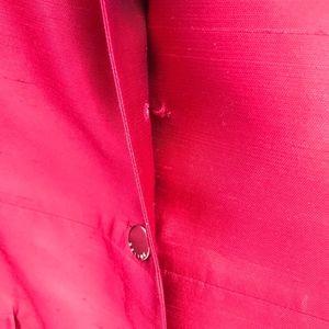 Celine Jackets & Coats - Celine Red Pure Silk Trench Coat Size 40 #538
